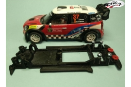 In Line chassis Black 3DP Mini WRC Carrera