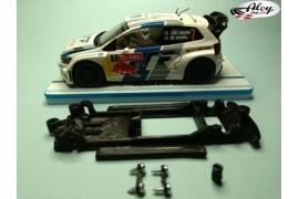 In Line chassis Black 3DP Mini WRC Carrera