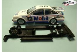 Chasis lineal Black 3DP BMW M3 E30 Fly versión pista motor Flat