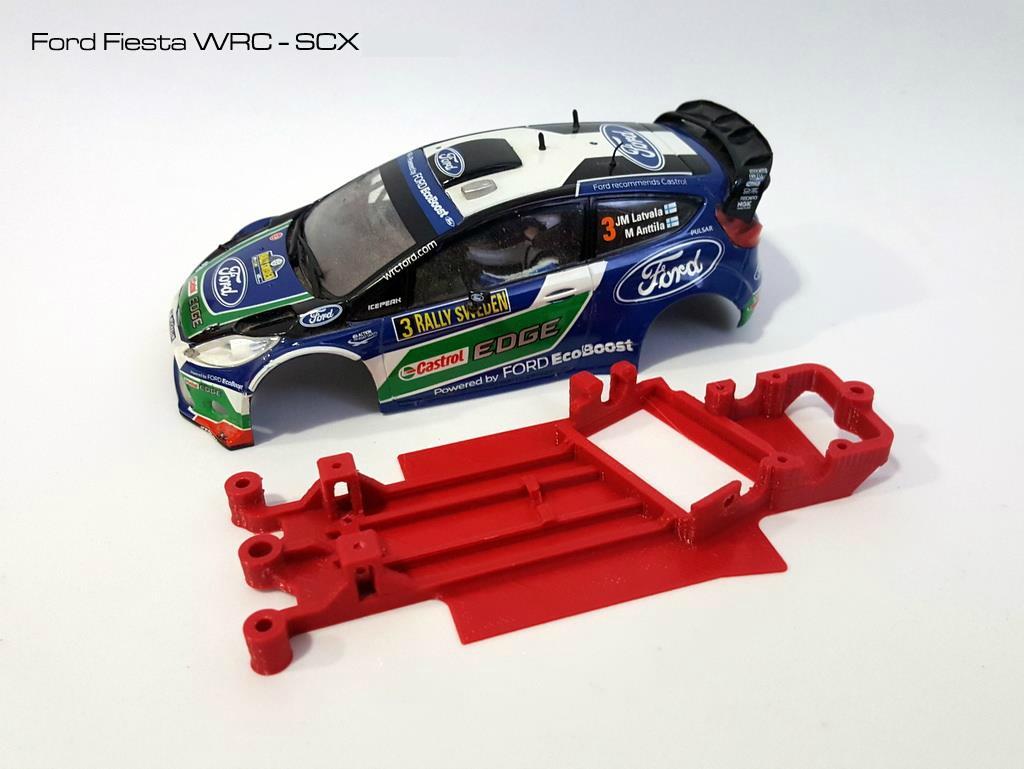 Spielzeug Scalextric Chassis Ford Fiesta Wrc Kinderrennbahnen