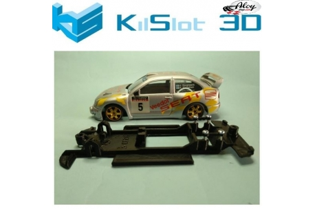 In Line chassis Black 3DP Ford Sierra Ninco track version Flat motor
