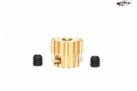 Removable pinion 7,5 x 14 teeth BRASS