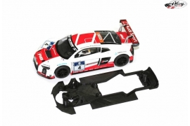 Chassis 3DP for Audi R8 LMS de Scalextric ready for Slot.it motor mount