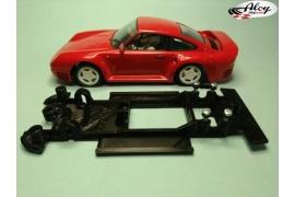 Chasis lineal black Porsche 959 MSC/Scaleauto