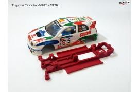 Chasis en línea 3DP Toyota Corolla WRC SCX