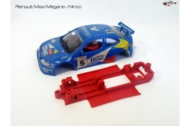 Chasis en línea 3DP Renault Maxi Megane Ninco