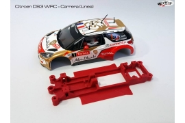 In line angular chassis Citroën DS3 WRC SCX Carrera