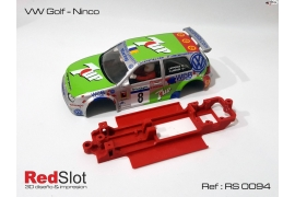 In line angular chassis VW Golf Ninco