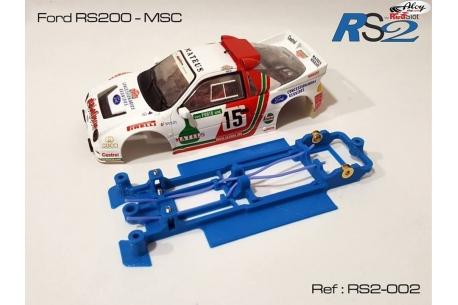 Chasis en línea 3DP Flex RS2 Ford RS200 MSC/Scaleauto