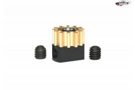 Pinion pull-out brass Z12 x 6.5 mm