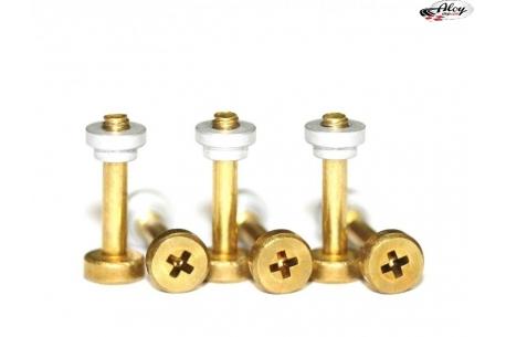 Suspension screws standard aluminium S with nuts