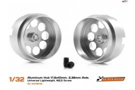 "Llanta aluminio 17,6 x 10 mm. Lightweight, eje 2.38 mm. (3/32"")"