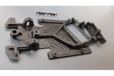 Chassis Black anglewinder De Tomaso Pantera MSC/Scaleauto