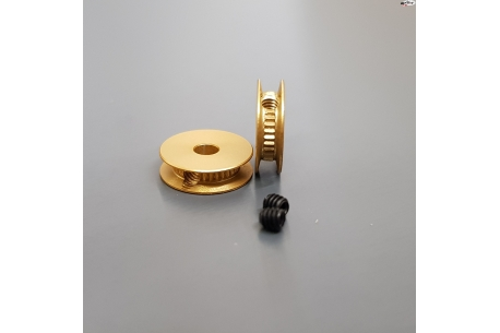 Universal Duralumin pulley 6,5 mm Ø