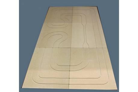 Circuito velocidad en kit 300 x 150 x 1.50cms.(material DM)