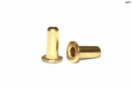 Brass eyelets 1.7 ø x 4mm