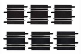 Rectas cortas 10 y 11.4 cm - Carrera GO!!! 1/43  (x6)