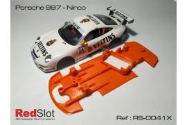 Chasis en ángulo  Porsche 997 Ninco
