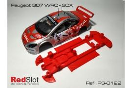 Chasis en línea 3DP Peugeot 307 WRC SCX
