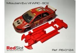 Chasis en línea 3DP Mitsubishi EVO VII WRC SCX