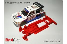 Chasis en línea 3DP Peugeot 205 Spirit