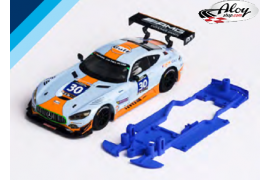 Chasis 3DP SLS para Mercedes AMG GT3 SCX.  Slot.it AW