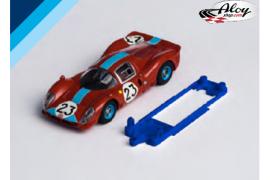 Chasis 3DP SLS Ferrari 330 P4 SCX bancada Slot.it IL slim
