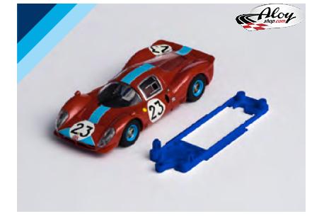 3DP SLS chassis for Ferrari 330 P4 SCX Slot.it slim motor mount