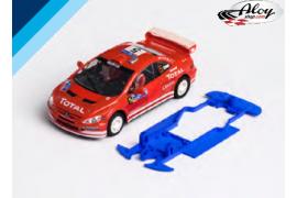 3DP SLS chassis for Peugeot 307 WRC NC. Slot.it AW