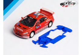 Chasis 3DP SLS para Peugeot 307 WRC NC.  Slot.it AW