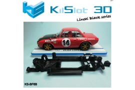 In Line chassis Black 3DP Lancia Fulvia 1.6 HF SCX