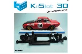 In Line chassis Black 3DP Lancia Fulvia 1.6 HF SCX