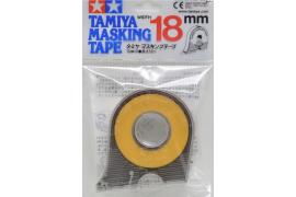 Cinta adhesiva de enmascarar 18mm. con portarollo