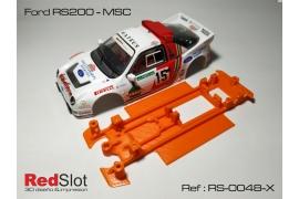 Chasis (Blando)en línea 3DP Ford RS200 MSC/Scaleauto