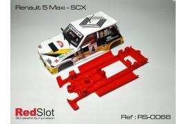 Chasis en línea 3DP Renault 5 Maxi SCX