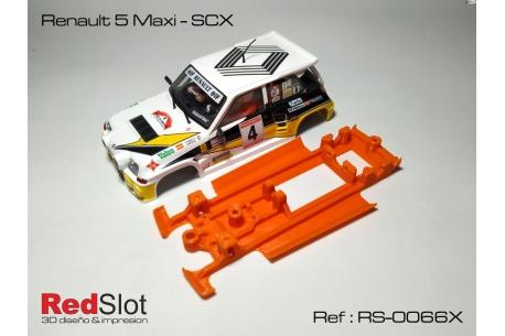 Chasis 3DP blando en línea  Renault 5 Maxi SCX
