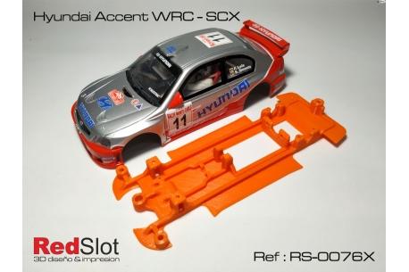 Chasis blando 3DP en línea Hyundai Accent WRC SCX