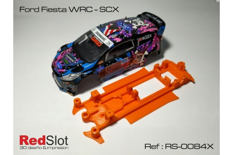 3DP In line angular soft chassis Ford Fiesta WRC SCX