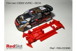 Chasis en línea 3DP Citroën DS3 WRC SCX