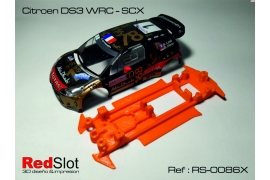 In line angular soft chassis 3DP Citroën DS3 WRC SCX