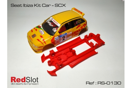 3DP In line angular chassis Seat Ibiza Kit Car SCX