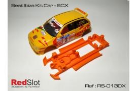 Chasis 3DP blando en línea Seat Ibiza Kit Car SCX