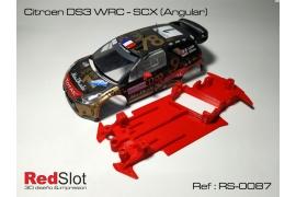 Chasis en ángulo 3DP Citroën DS3 WRC Scalextric