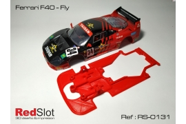 Chassis for Ferrari F40 Fly motor mount Slot.it