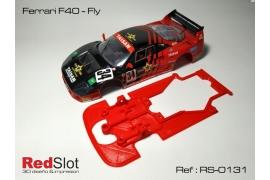 Chassis for Ferrari F40 Fly motor mount Slot.it