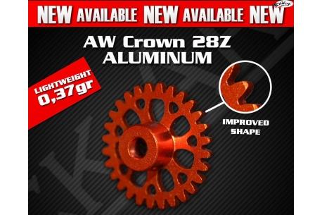 Crown aluminium lightweight 28z teeth Anglewinder