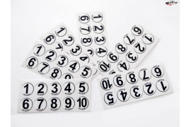 60 vinyl sticker numbers 1-10