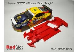 Chasis 3DP en ángulo Nissan Z350 Power Slot