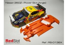 Chasis blando 3DP en ángulo Nissan Z350 Power Slot