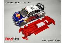 Chasis 3DP en línea Audi S1 WRC SCX